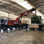 crane truck loading machinery
