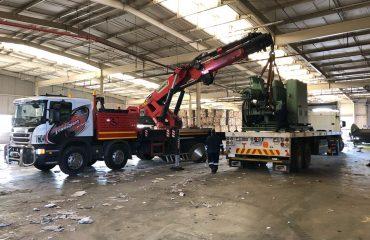 crane truck loading machinery
